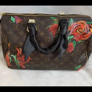 Vintage Louis Vuitton speedy. Hand painted.